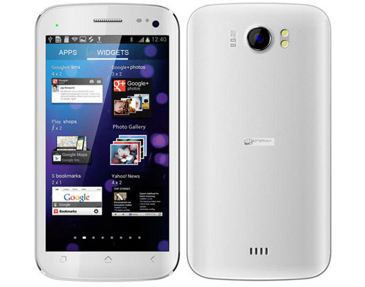 list of micromax android phones with specifications